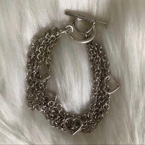 Jewelry - Tiffany multi strand heart bracelet
